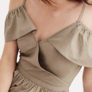 Madewell Kacki cold shoulder dress-NWT